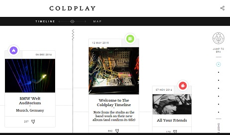 The Coldplay Timeline