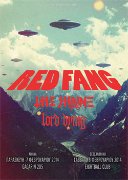 Red Fang + The Shrine + Lord Dying @ Greece 2014