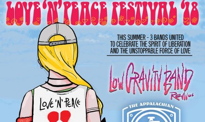 Love 'n' Peace Festival: Low Gravity Band, Appalachian Cobra Worshipers, The RatPack Racers