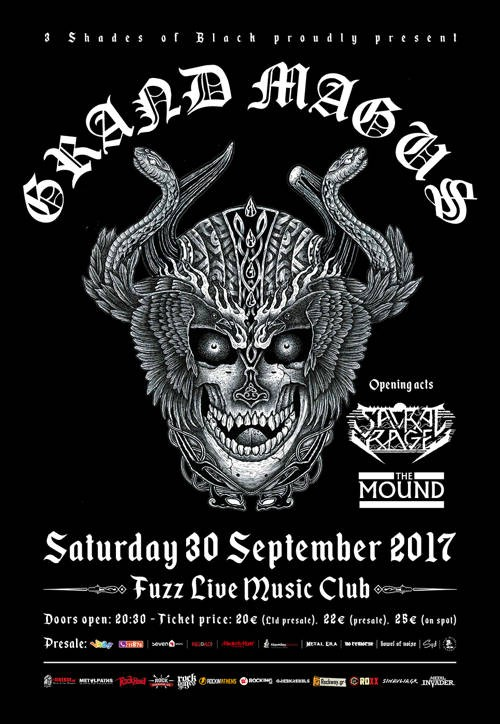 Grand Magus, Sacral Rage, The Mound Αθήνα @ Fuzz Club