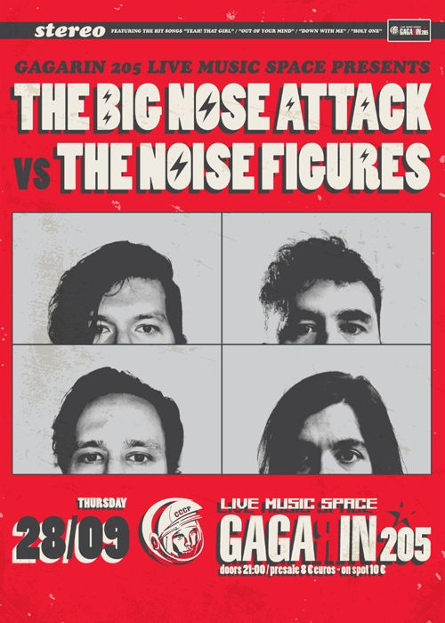 The Big Nose Attack, The Noise Figures Αθήνα @ Gagarin 205