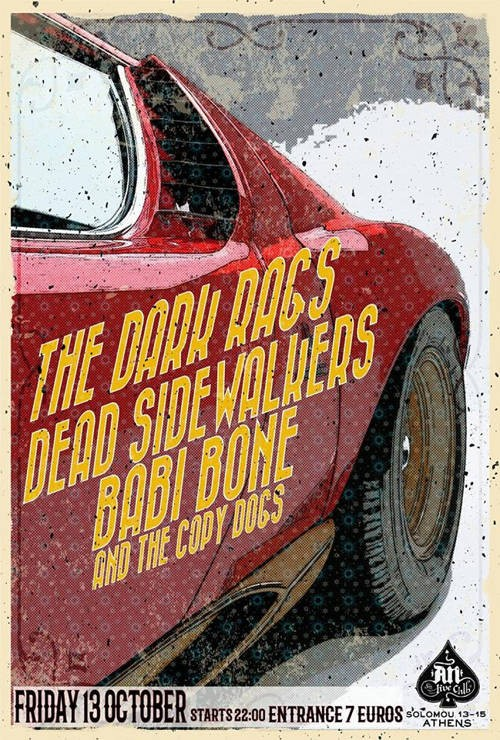 Dead Sidewalkers, The Dark Rags, Babi Bone And The Copy Dogs Αθήνα @ AN Club