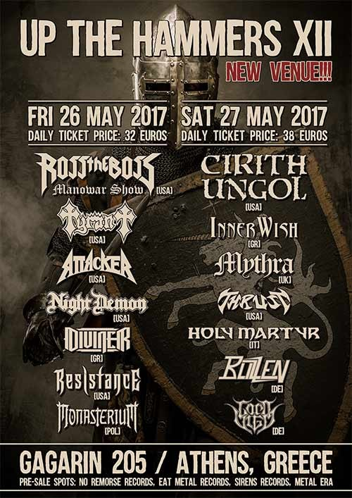 Up The Hammers Festival: Cirith Ungol, InnerWish, Mythra, Thrust, Holy Martyr, Blizzen, Lord Vigo Αθήνα @ Gagarin 205