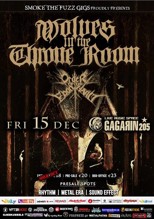 Wolves In The Throne Room, Order Of The Ebon Hand Αθήνα @ Gagarin 205