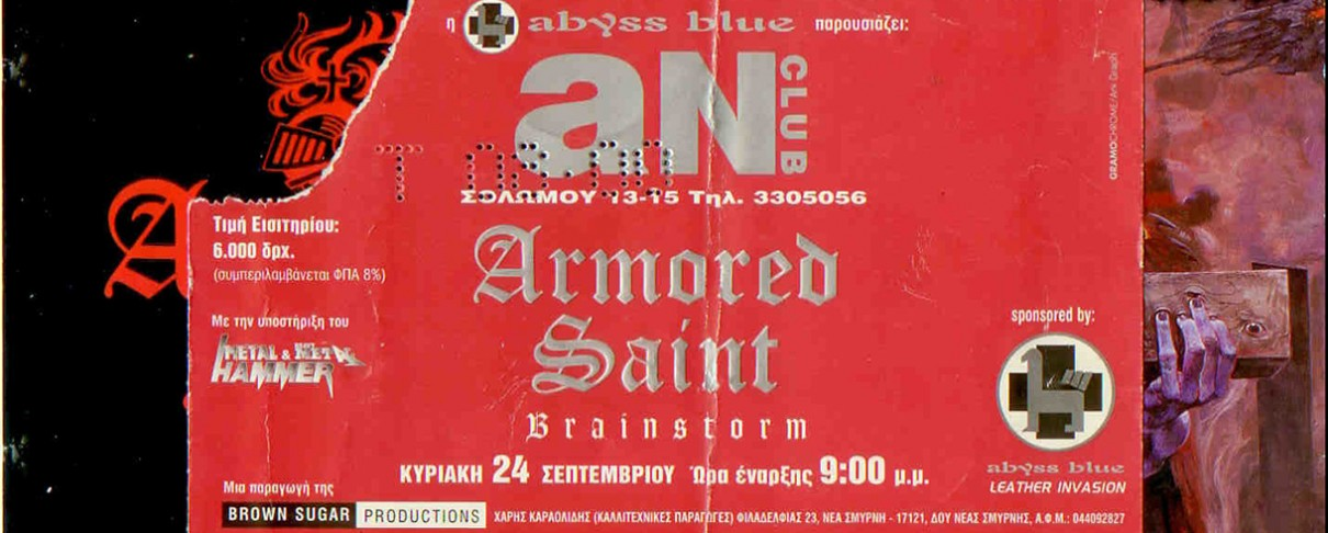 Armored Saint, Brainstorm, Crush @ An Club, 24/09/00