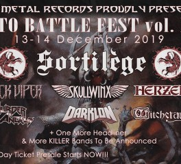 Into Battle Festival - Day 2 (Sortilege, Wotan, Battle Ram, Convixion κ.ά.) @ Κύτταρο, 14/12/19