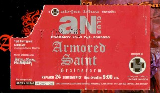 Armored Saint, Brainstorm, Crush @ An Club, 24/09/00