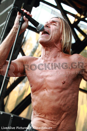 Iggy & The Stooges @ Rockwave Festival, Athens, Greece, 02/07/12