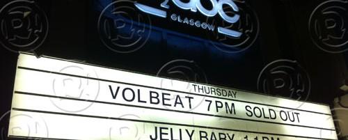 Volbeat, Iced Earth @ O2 ABC (Γλασκώβη) & O2 Brixton (Λονδίνο), 17-19/10/13