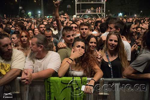 Crowd @ Rockwave Festival, Athens, Greece, 21/07/15