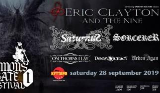 Demon's Gate Festival (Eric Clayton And The Nine, Saturnus, Sorcerer, On Thorns I Lay) @ Κύτταρο, 28/09/19