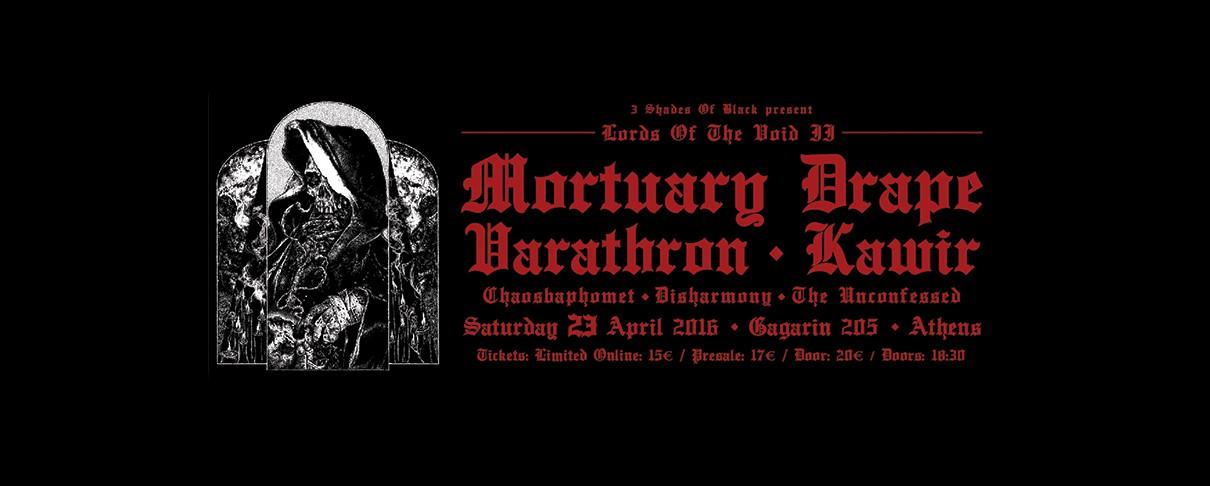 Οι Mortuary Drape, Varathron και Kawir στη δεύτερη έκδοση του Lords Of The Void