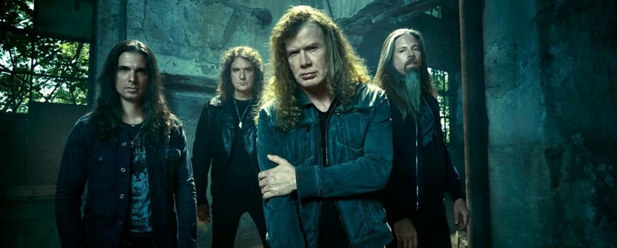 Οι Megadeth δίνουν ένα ακουστικό set έξω από ξενοδοχείο του Buenos Aires
