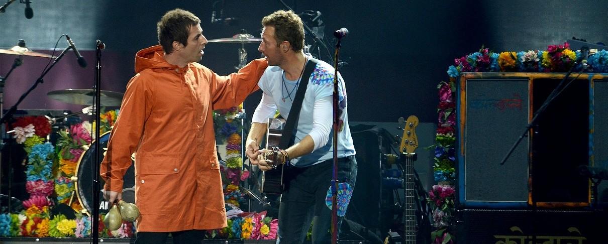 Ο Liam Gallagher και οι Coldplay μαζί στη σκηνή