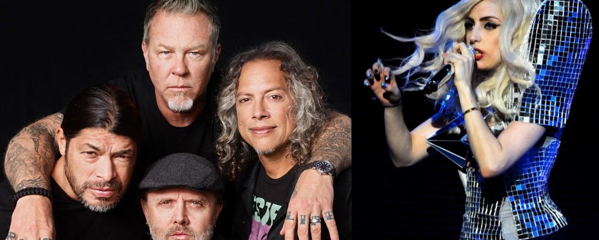 H Lady Gaga στη σκηνή με τους Metallica!