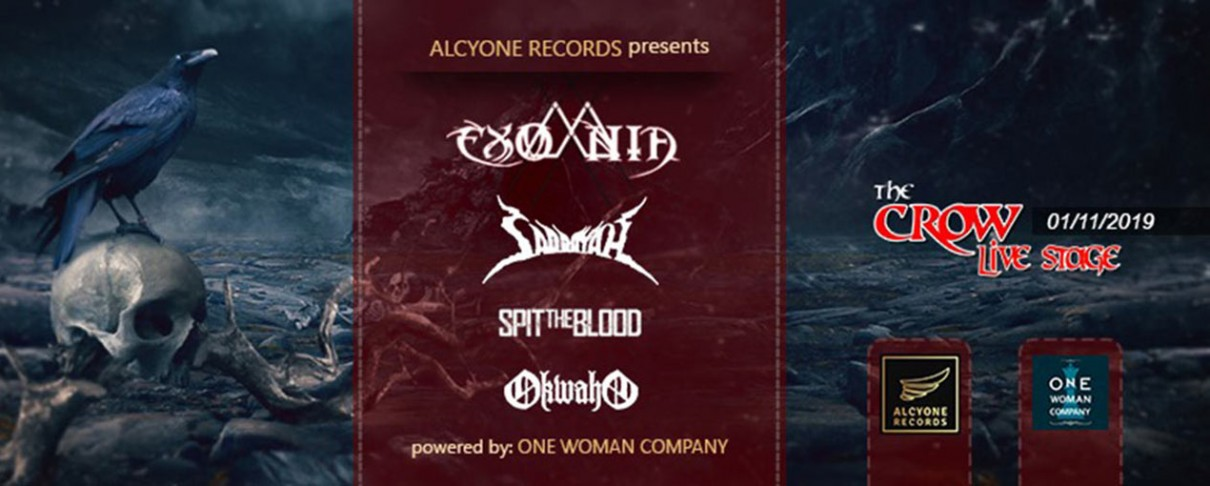 Exomnia, Saddayah, Spit The Blood και Okwaho ζωντανά στο Crow