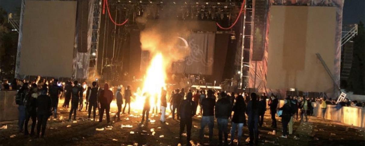 Χάος στο Knotfest Mexico 2019: Ο εξοπλισμός κάηκε κατά την διάρκεια σοβαρών επεισοδίων