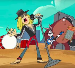 Ο Axl Rose γράφει τραγούδι για τα Looney Tunes!