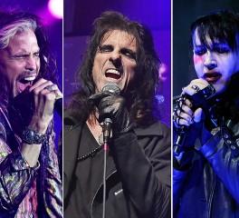 Marilyn Manson και Steven Tyler στην σκηνή των Hollywood Vampires