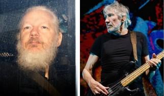 "O Roger Waters παίζει το ""Wish You Were Here"" σε διαδήλωση υπέρ του Τζούλιαν Ασάνζ"