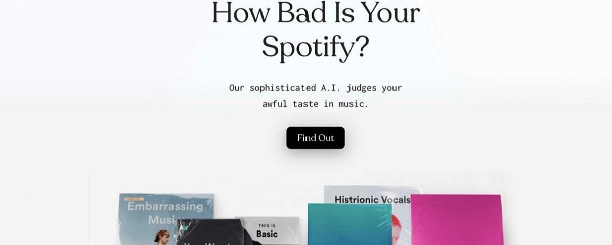 Εφαρμογή τεχνητής νοημοσύνης επικρίνει τα ακούσματα χρηστών του Spotify