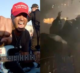 """Διαδηλωτές στο Portland φωνάζουν στίχους του """"Killing In The Name"""" εναντίον αστυνομικών (video)"""