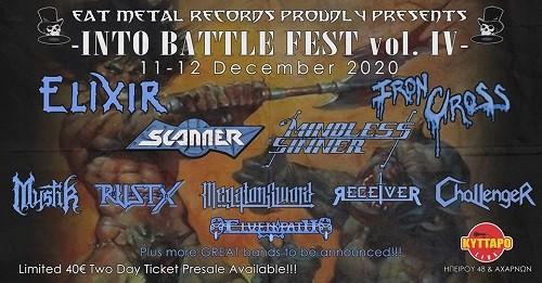 Into Battle Festival: Elixir, Scanner, Mindless Sinner, Ιron Cross, Mystic, Rustx, Megaton Sword, Receiver, Challenger Αθήνα @ Κύτταρο