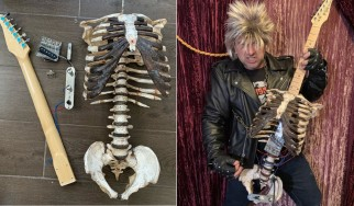 Έφτιαξε κιθάρα με τα οστά του νεκρού θείου του!