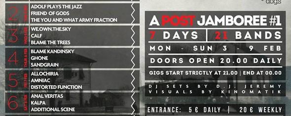 A Post Jamboree #1: Φεστιβάλ ελληνικών post συγκροτημάτων στο 6 D.O.G.S.