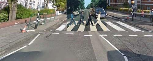 Κλασικά εξώφυλλα δίσκων ...τοποθετημένα στο Google Street View