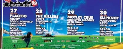 Το τελικό line-up του Rockwave Festival 2009