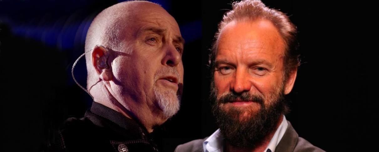 Sting και Peter Gabriel μαζί σε περιοδεία με τίτλο «Πέτρα, Ψαλίδι, Χαρτί»