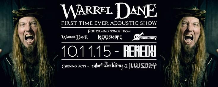 Ο Warrel Dane για ένα μοναδικό ακουστικό show στο Remedy Live Club