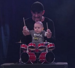 Drummer οκτώ μηνών παίζει Pantera στην εκπομπή του Jimmy Kimmel (video)
