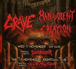 Οι Grave και Malevolent Creation σε λίγες μέρες σε Αθήνα και Θεσσαλονίκη