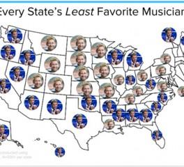Αυτοί είναι οι μουσικοί με τους περισσότερους haters σε κάθε πολιτεία των Η.Π.Α.