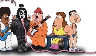 Εμπορική συνεργασία Kiss και Family Guy
