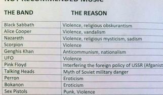 Ποιοί rock / metal καλλιτέχνες απαγορεύονταν στην Σοβιετική Ένωση και γιατί;