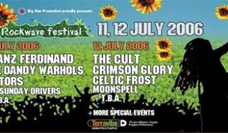 Rockwave Festival 2006: Τα ονόματα της δεύτερης ημέρας
