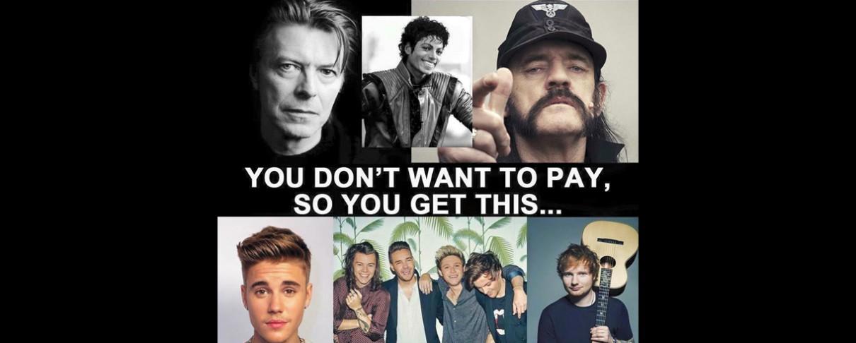 Ό,τι πληρώνεις παίρνεις στη μουσική