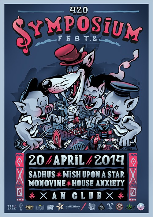 4.20 Symposium Fest: Sadhus, Wish Upon A Star, Monovine, House Anxiety Αθήνα @ AN Club