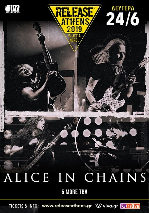 Release Athens Festival: Alice In Chains, 1000mods, Fu Manchu, Puta Volcano, Monovine Αθήνα @ Πλατεία Νερού, Ολυμπιακός Πόλος Φαλήρου