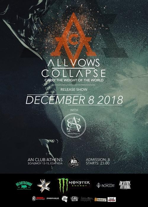 All Vows Collapse, Seasons A.C. Αθήνα @ AN Club