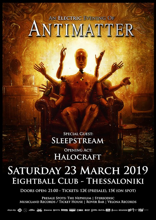 Antimatter, Sleepstream, Halocraft Θεσσαλονίκη @ Eightball
