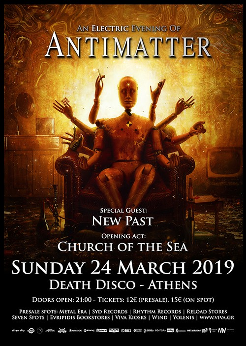 Antimatter, New Past, Church Of The Sea Αθήνα @ DeathDisco