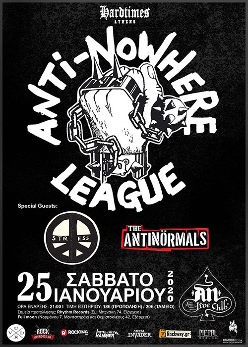 Anti-Nowhere League, Stress, The Antinormals Αθήνα @ AN Club