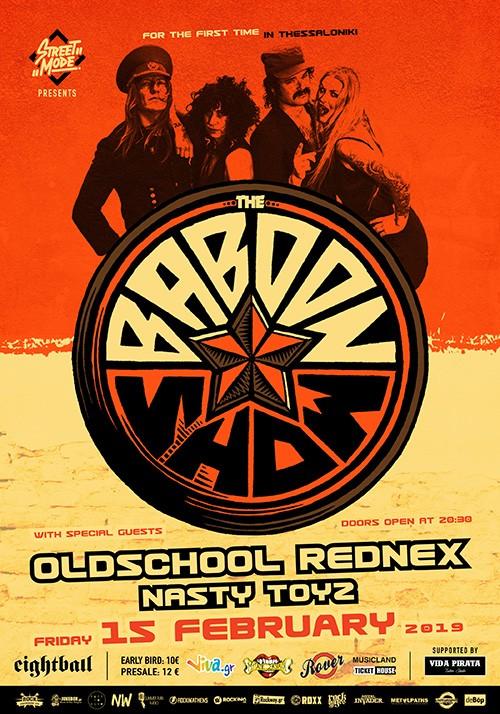 The Baboon Show, Oldschool Rednex, Nasty Toys Θεσσαλονίκη @ Eightball