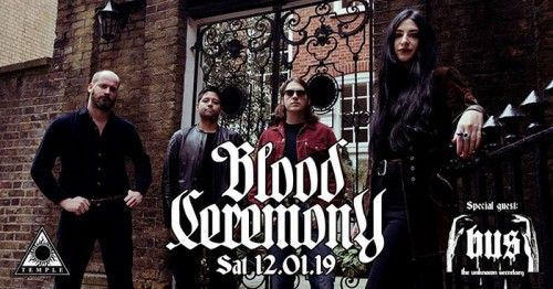 Blood Ceremony, Bus The Unknown Secretary Αθήνα @ Fuzz Club