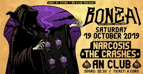 Bonzai, Narcosis, The Crashes Αθήνα @ AN Club