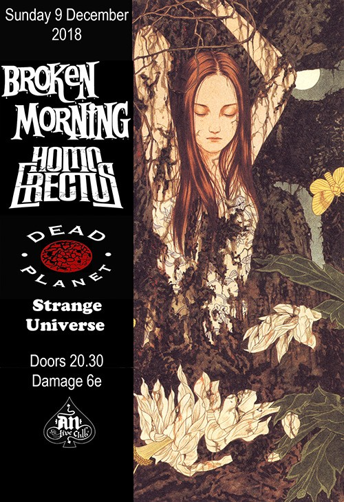 Broken Morning, Homo Erectus, Dead Planet, Strange Universe Αθήνα @ AN Club